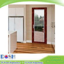 Wholesale Powder Coating Aluminium Swing Doors with Build In Blinds in Double Toughed Glass for Household Kitchen & Bathroom