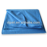 dark blue super soft polar fleece blanket