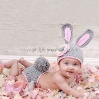 Baby Handmade Knitted Rabbit Crochet Hat Photography Props