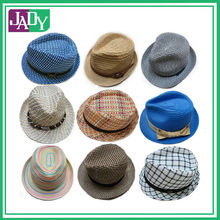 2015 Navy paper straw fedora hat with ribbon