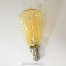 2015 vintage edison filament bulb, most popular led decorative bulb Dimmable ST38 2W with ETL CE ROHS