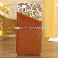 FL3071 2013 Guangzhou new arrival credit card slot leather back cover case for iphone 5