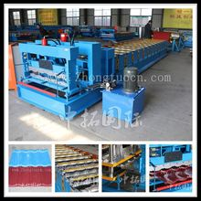 glaze roof and floor tile making machine, glazed tide type color sheet molding machine