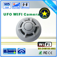 720P Remote Control Wireless Wifi Smoke Detector Hidden Camera