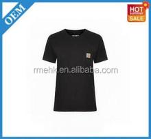 bamboo plain dri fit Fashion 100% Cotton Cheap women's Custom Printed T-shirt round neck T-shirts black t-shirts