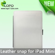 Custom blank sublimation Snap Leather cases for iPad mini