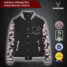 The New York camouflage sleeve thickening plus size cheap varsity hoodie baseball varsity jackets