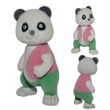 Good Selling Little Panda Flocked Toys