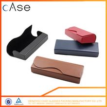 Fashion pu leather thin eyeglass case