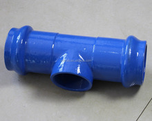 dbl Socket Tee with Flanged branch with epoxy applied by FBE