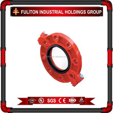 FM&UL Approved Ductile Iron pipe fitting grooved flange ductile iron pipe fitting connect flange