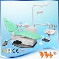 led de luz de funcionamiento las sillas dentales y unidades de china con asiento de cuero genuino