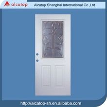 Alcatop metal door with glass insert