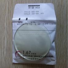 Resin 1.67 Super Hi-Index hmc optical rx lens