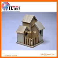2015 hot sale decrative wooden bird house