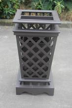 Cast Aluminum outdoor/garden/patio/hotel furniture stainless dustbin