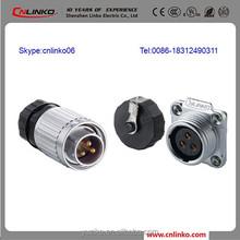 Sata Power Connectors 3Pin Top Plug CE Certification Waterproof IP67 3 Pin Connector