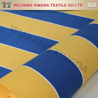 yellow blue white stripe awning fabric