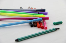 children use fibre tip water color pen