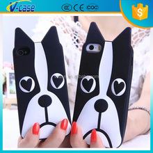 2015 hot selling silicone dog mobile phone cover/bag for iPhone 6