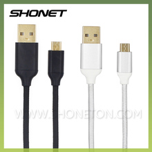 Beautiful and practical nylon braided usb cable for mobile phone