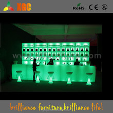 PE material bar table, party bar table and chair used, multy-color outdoor rattan bar table