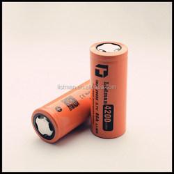high power 3.7v imr 26650 60a 4200mah e-cig batteries/ 26650