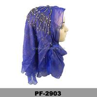 Muslim Chiffon Scarves with rhinestones muslim hijab wedding dress