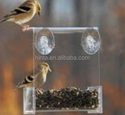 Window bird feeders Clear Window Finch, Titmouse, Sparrow Miniature Bird Feeder