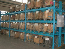 Wire Mesh Roll Cage for Warehouse Pallet Rack Storage
