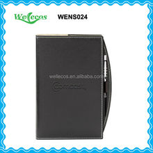 Leather Cover Notebook With Pen For Office