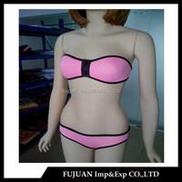 Wholesale hot tube top neoprene zipper bikini