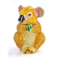 Small Lovely Koala Shaped Animal Metal Crystal Souvenir Gift Products