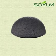Bamboo charcoal konjac sponge for skincare/konjac exfoliating sponge
