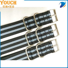 22mm stock watch strap ballistic nylon black&gray stripe zulu strap adjustable nylon strap nylon safety strap