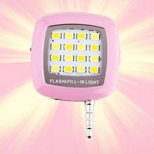 New improved 16LED flash light with miroc-USB external smartphone flash led light