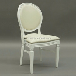wooden white louis chair/ solid wood chair