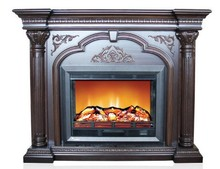 2015 new design wood burning fireplace with mantel