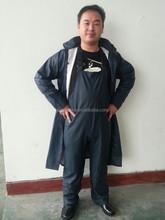 Customized hot sale high quality long industrial helmet raincoat rain suits