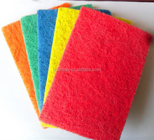 green scouring pad for kitchen cleaning