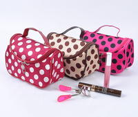 2015 New Trendy Tote Makeup Storage Bag Fashion Multifunctional High Capacity Portable Dot Travel Cosmetic Bags