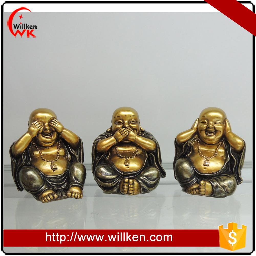 Piccole dimensioni 3/s buddha ridere regalo buddha in vendita