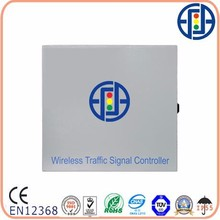 Solar powered wireless traffic light controller