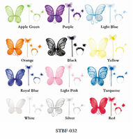 Multi colors girls fairy butterfly wings decoration 3 set cheap wholesale