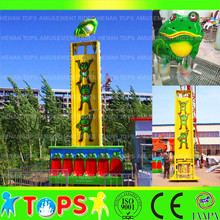 Outdoor entertainment jumping Frog rides ! kids funfair game