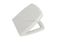 Soft close duroplast metal hinge rectangular toilet seat for one piece water closet