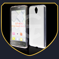 For Alcatel One Touch Idol X+ 6043 OT 6043 Case Cover Smooth Jelly TPU Case For TCL S960