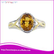 2015 Well-built fashion women top-level 9k gold gemstone ring