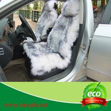 Black tip Sheepskin Long Fur Car Seat Covers/Seat Cushion