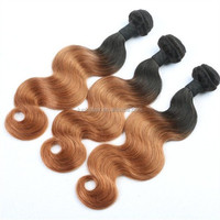 Cheap Brazilian virgin hair extensions ombre bundles 100% remy human hair extension with large stock